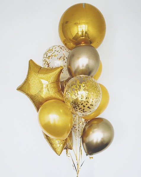 Shades Of Gold Balloons Bouquet Gold Balloons Balloon Bouquet Gold Balloons Decorations