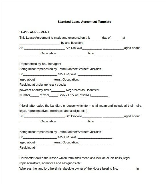 Lease Agreement Template Word Check more at   - agreement in word