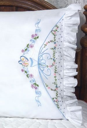 Embroidery Pillowcases Embroidery Kits Pillowcases