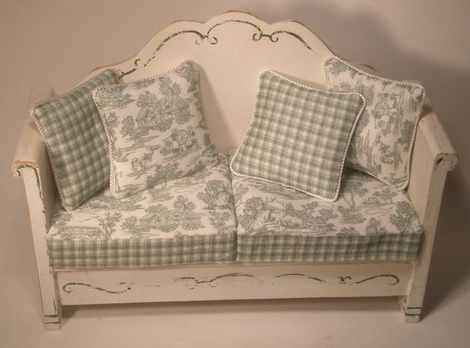 Toile Sofa Green By Valerie Con