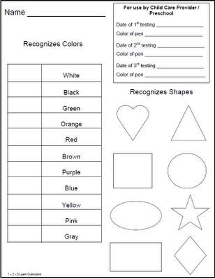 Image Result For Preschool Evaluation Forms  Classwork