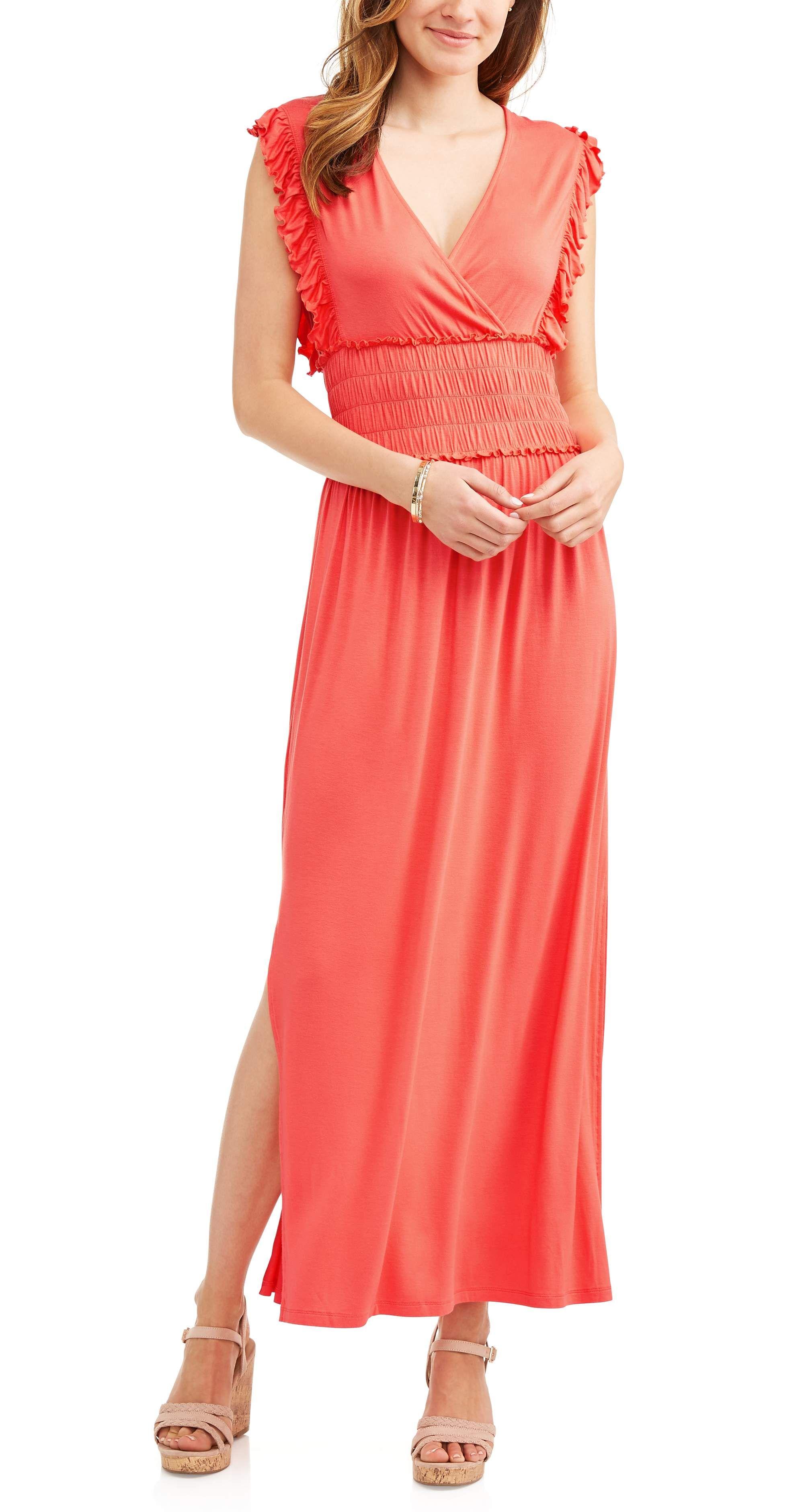Women S Wrap Dress Walmart Com Womens Wrap Dress Maxi Dress Dresses [ 3760 x 2000 Pixel ]