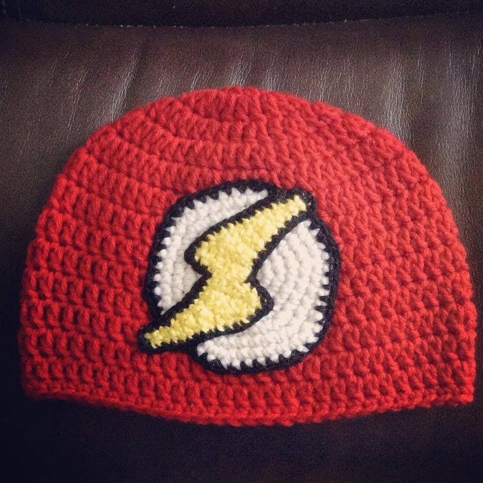 Crochet Flash Inspired Beanie | Gorros, Superhéroes y Tejido