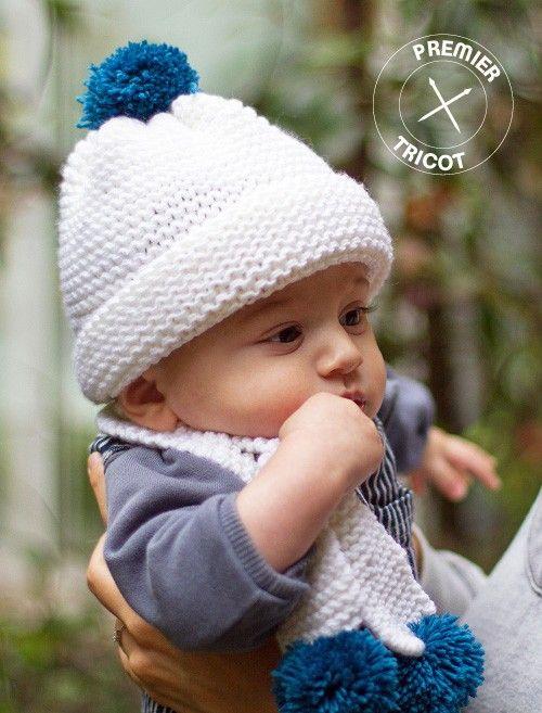 kit tricot bonnet bebe