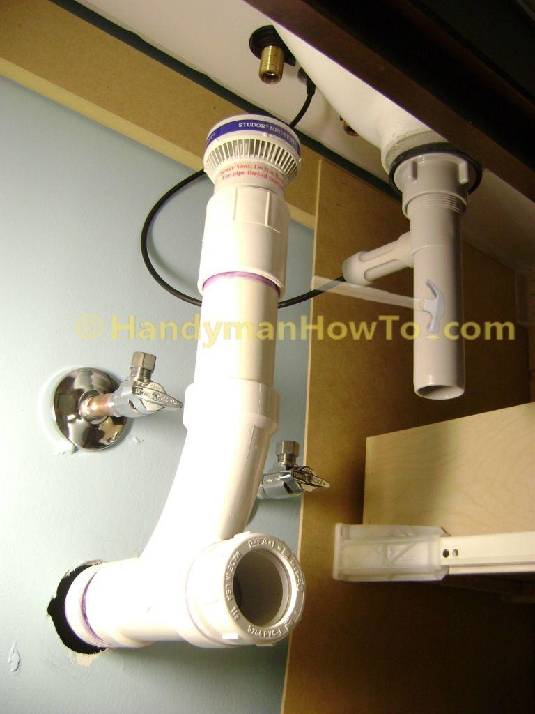 Bathroom Sink Drain Plumbing Studor Mini Vent Wye And Female Trap Adapter Bathroom Sink Drain Sink Drain Bathroom Sink Design