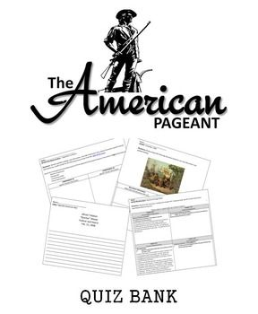 The American Pageant Quiz Bank With Images History Exam