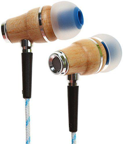 Cheap Symphonized Nrg Bluestripe Nrg Premium Genuine Wood In Ear Noise Isolating Headphones With Microphone Blue Stripe