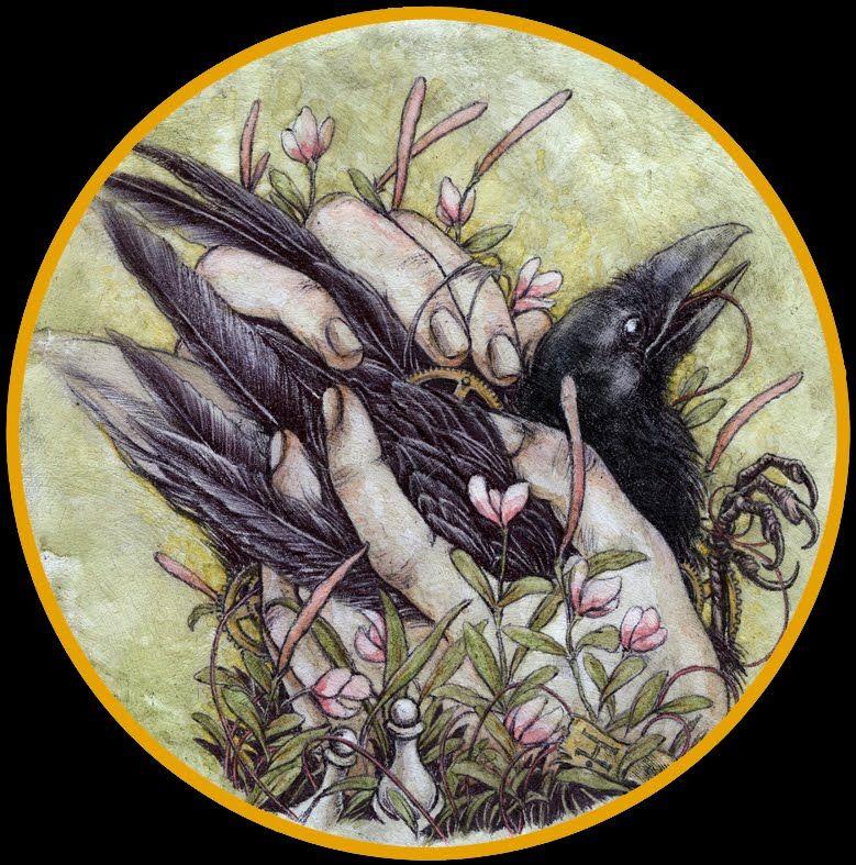 Download Jeremy Hush art   Art, Black bird, Crow art