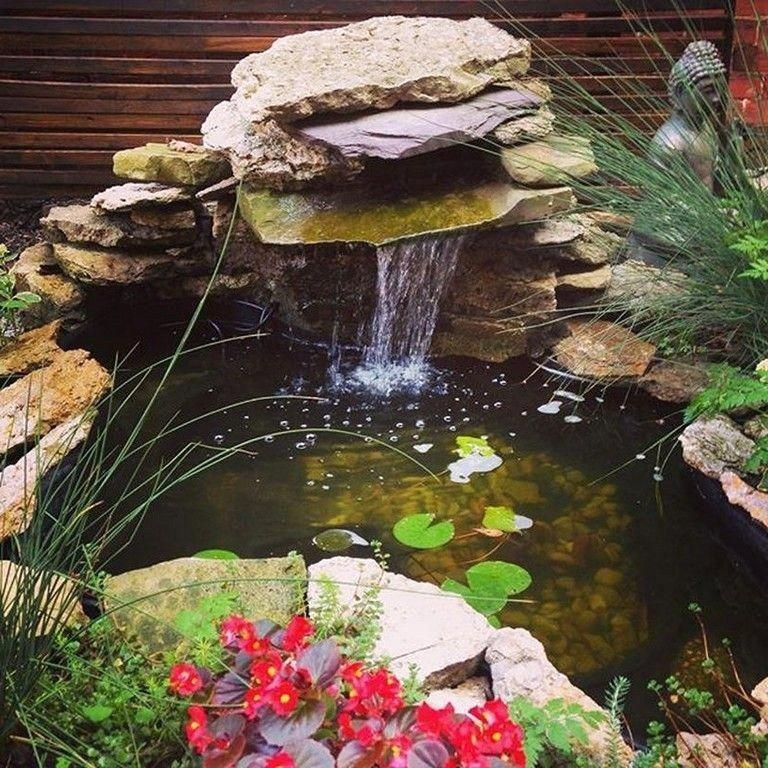 47 Diy Garden Pond Waterfall Ideas Diygardenpondwaterfallideas Gardenpondwaterfall Diygardenpond Solar Fountain Backyard Water Feature Waterfalls Backyard
