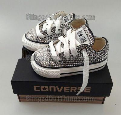 Baby blinged out Converse | Moda infantil, Calçados para ...