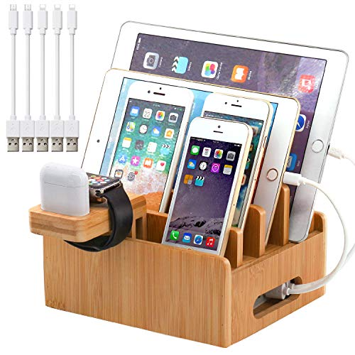 Wooden Make Up Accessories Station and Phone Cell Phone Docking Station Charging Station Personalized Gift for Her Organizer Wife Wenge