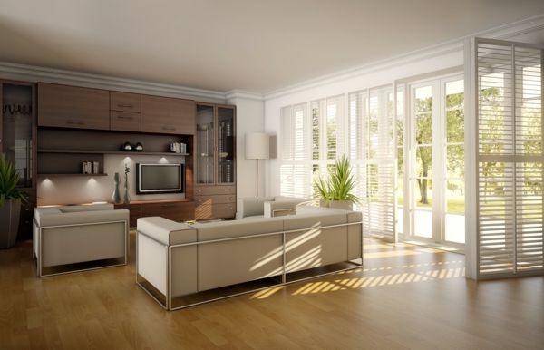 Designer Wohnzimmer Mit Einem Sofa In Weiß Und Einem Hölzernen