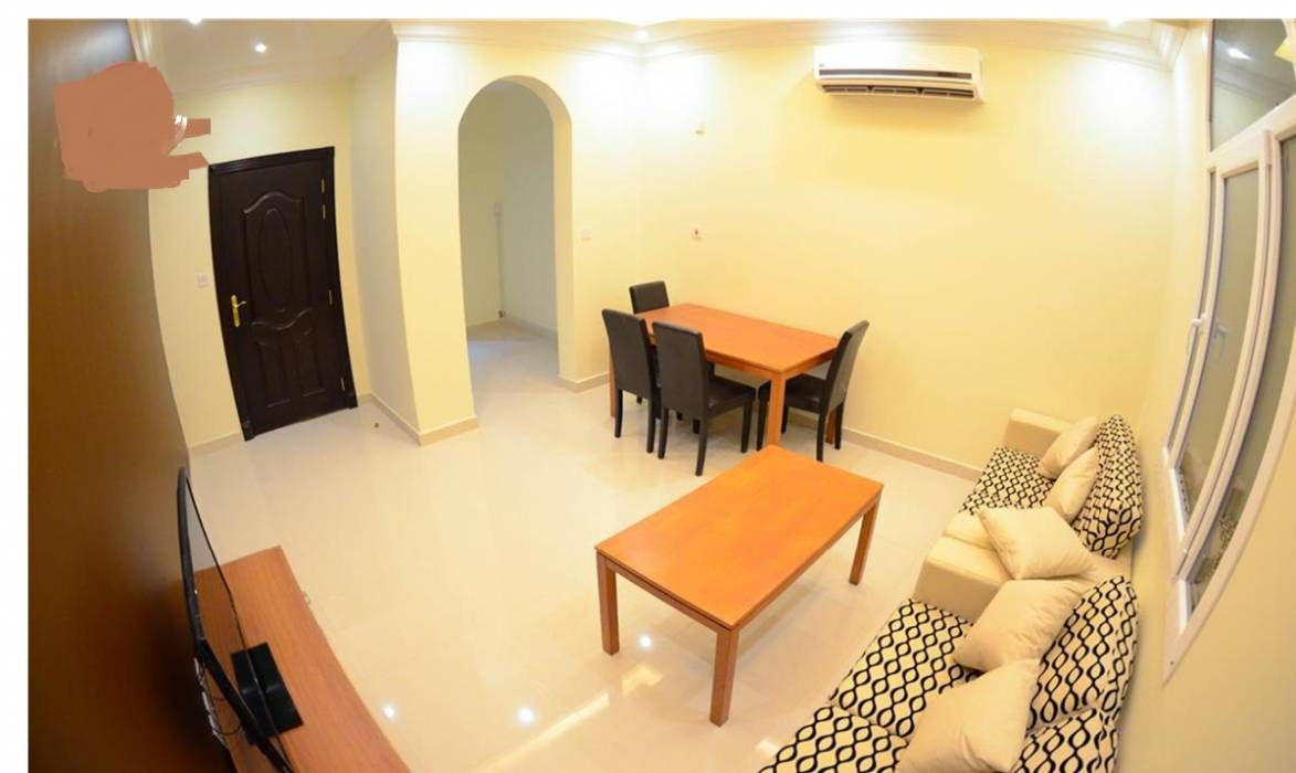 Fully Furnished 2bhk Available At Al Thumama Including Utilities Furnishings Kitchen Fittings Living Room Kitchen