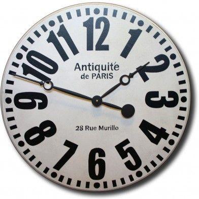 White Paris Available Wall Clock Clock Large Wall Clock