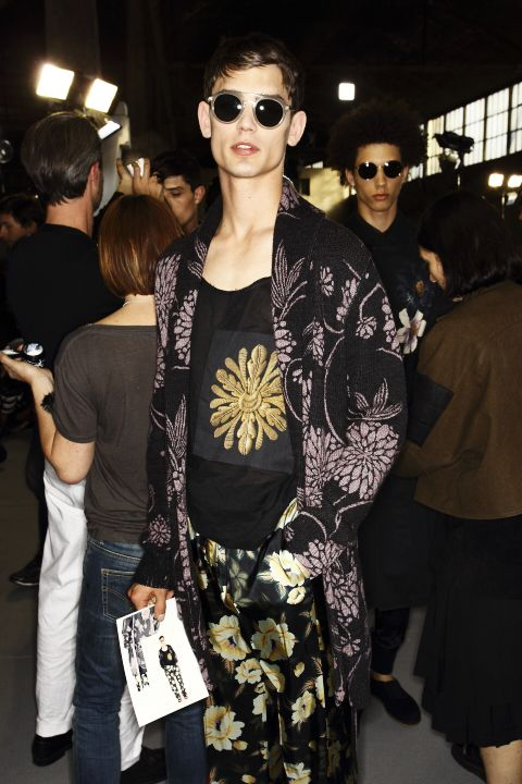 backstage at dries van noten ss14 by sonny v