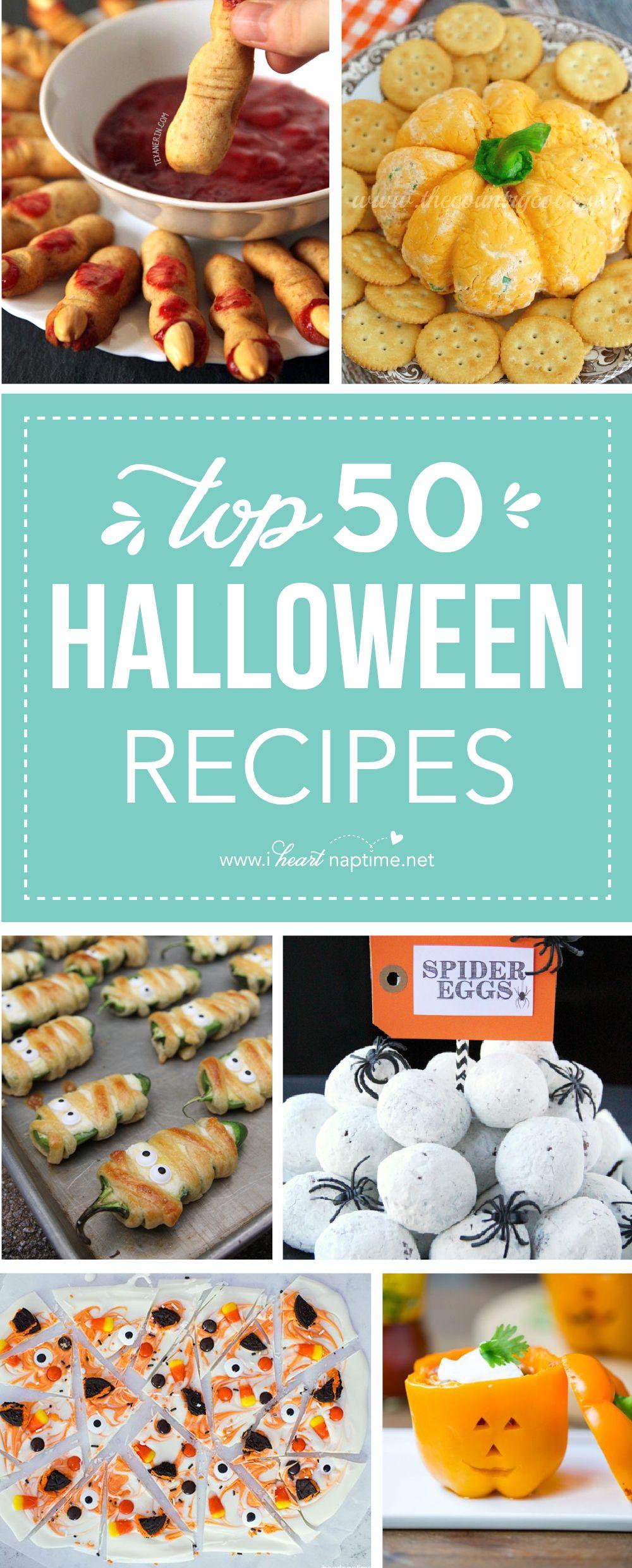 Top 50 Halloween Recipes Halloween dishes, Halloween