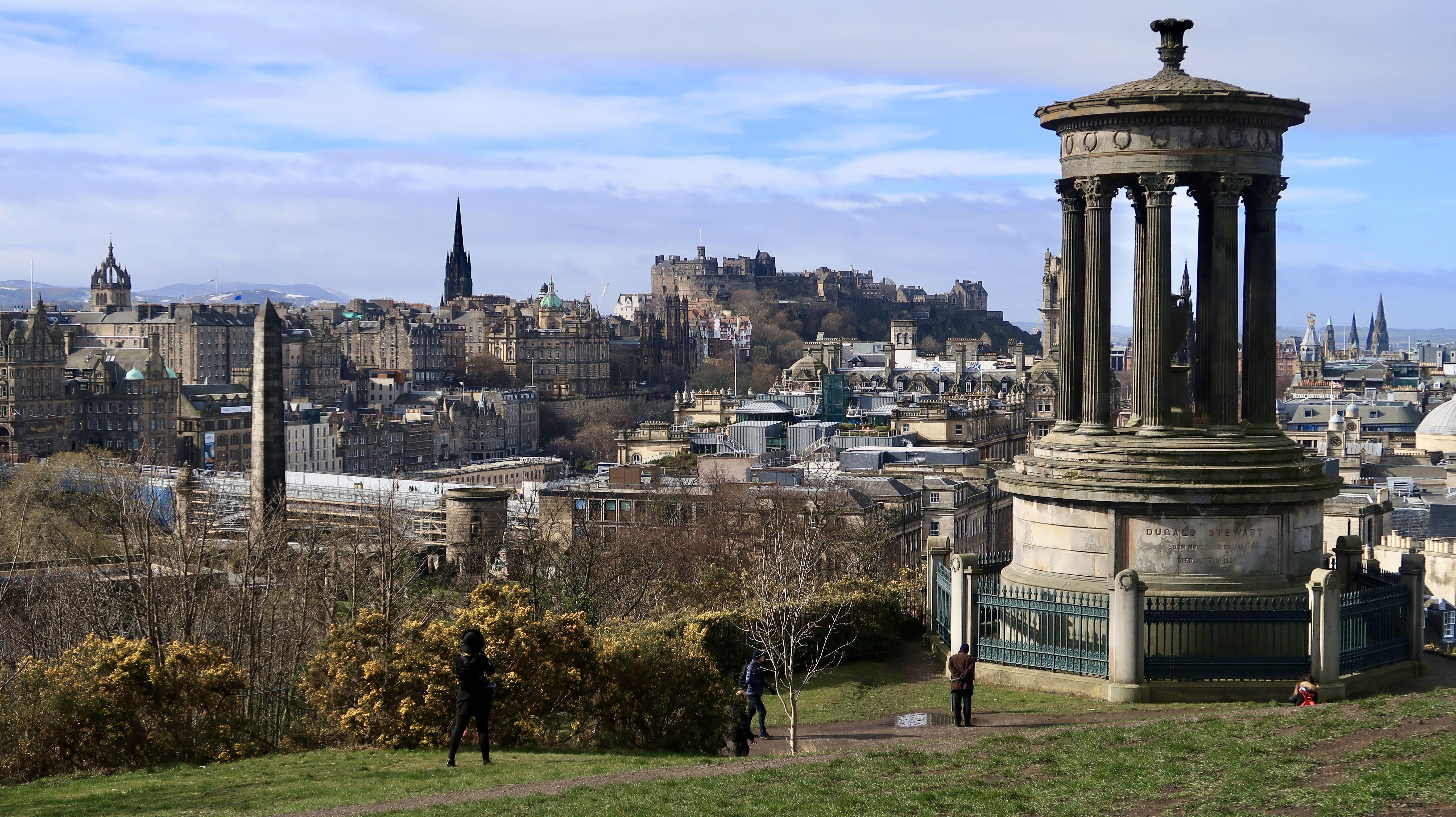 Обои dugald stewart monument, scotland, Шотландия, эдинбург, edinburgh, calton hill. Города foto 15