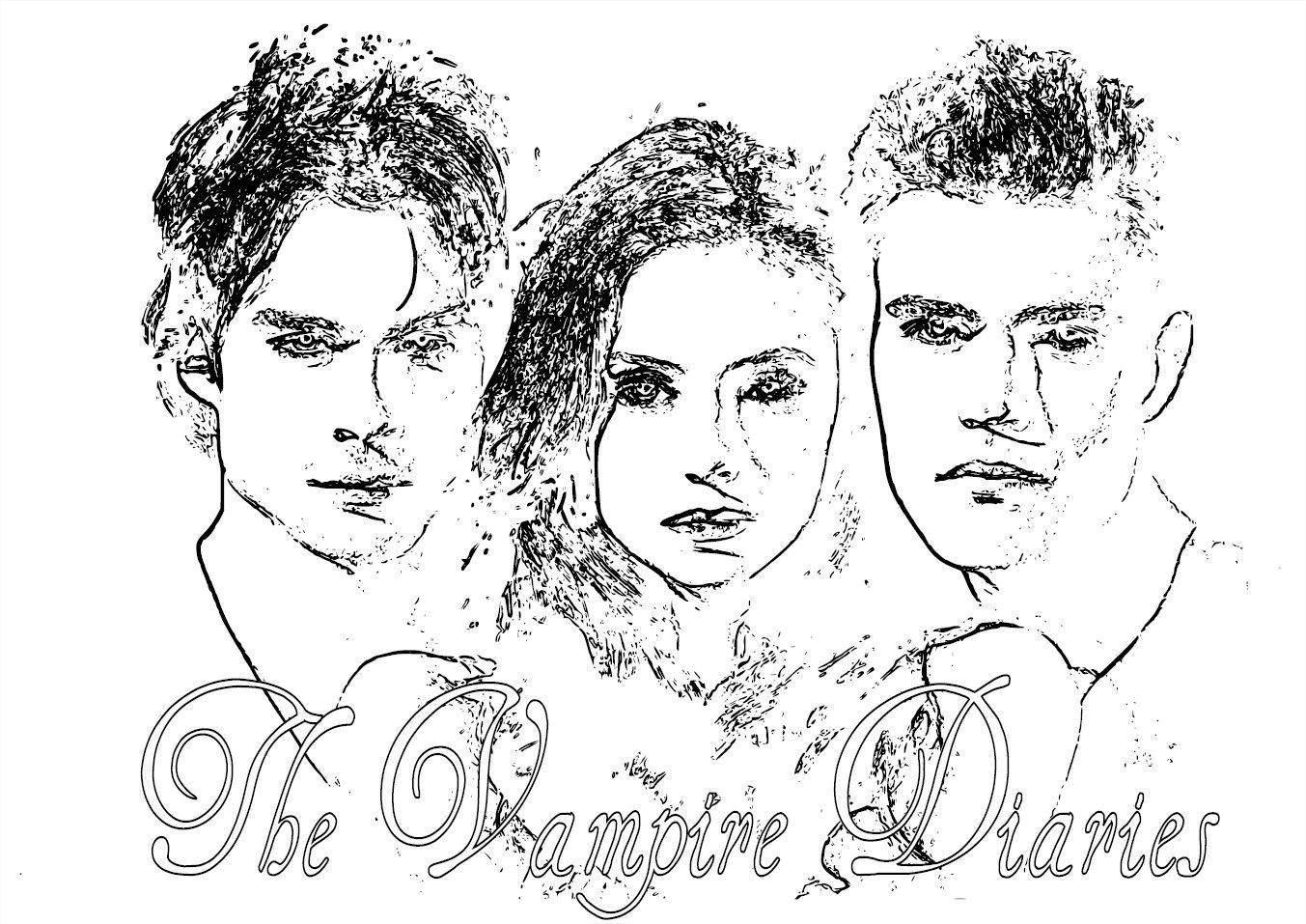 Vampire Diaries Coloring Pages Vampire Diaries Vampire