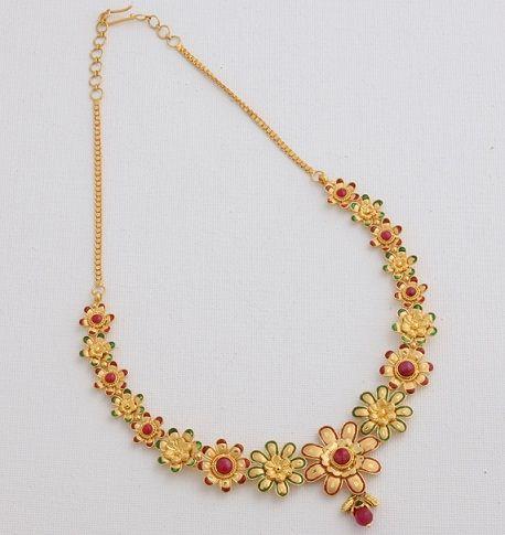 Indian Bridal Jewellry Designs Kalyan Jewellers Bridal Jewellery Design Gold Necklace Indian Bridal Jewelry Gold Necklace Women