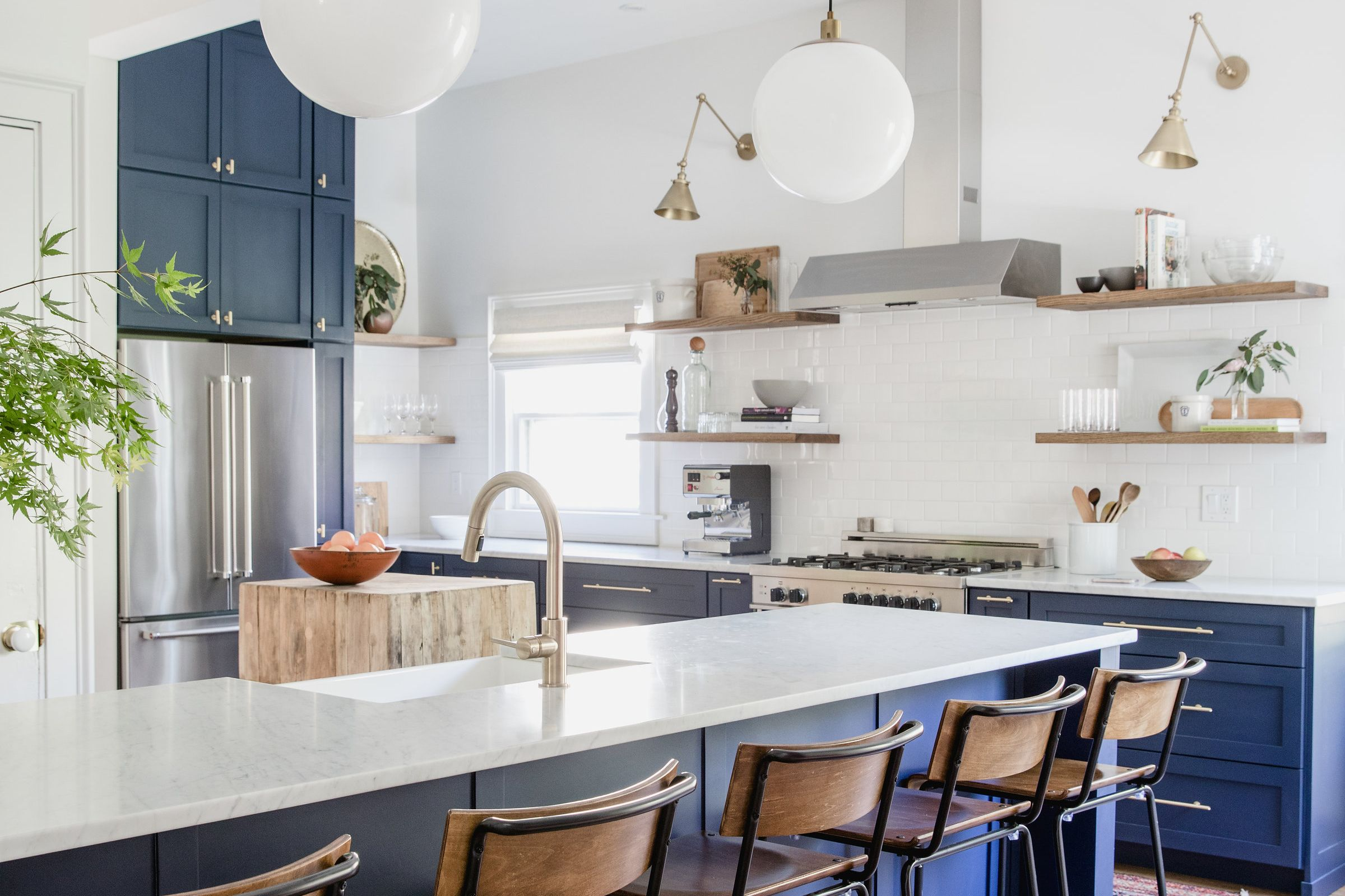 A Beast of a Kitchen Is Now a Blue Beauty | Kitchens, House and Blue ...