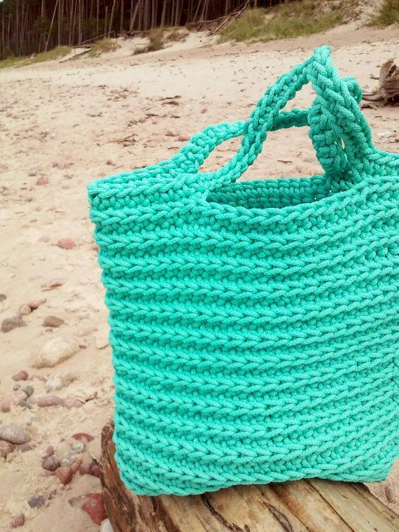 Knitted Bags Rope Bags Handmade Bags Chrochet by NataNatastudio Making a difference to the bags that are the weaknesses of women comes to life with the construction of kn...