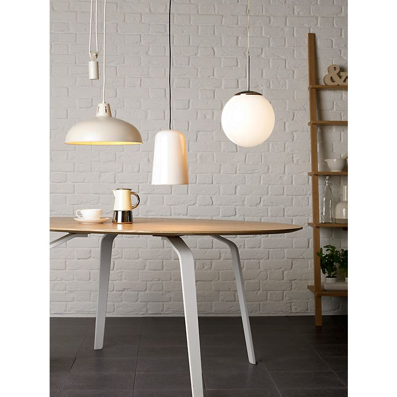 Brigitta pendant light on left