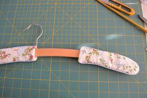 Padded Coat Hanger | Padded coat hangers, Coat hanger ...