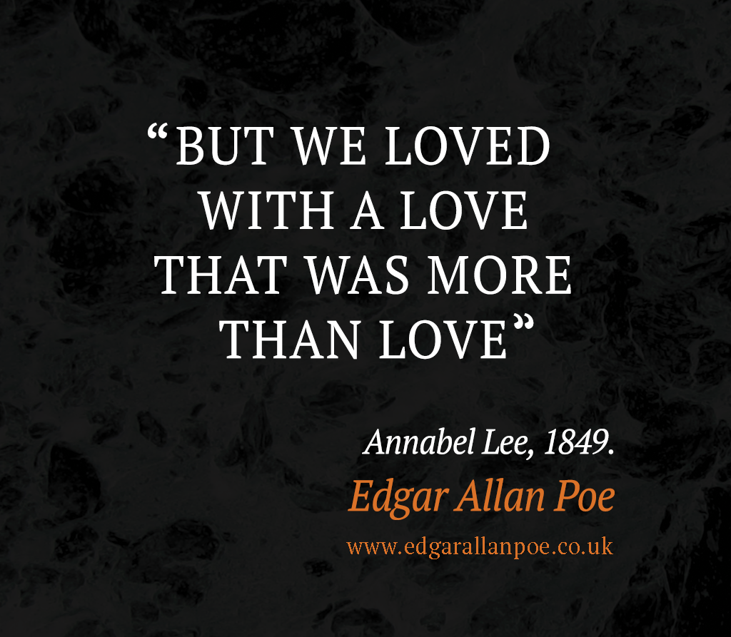 Edgar Allan Poe Love Quotes Loved With A Love That Was More Than Love  Edgar Allan Poe Quote