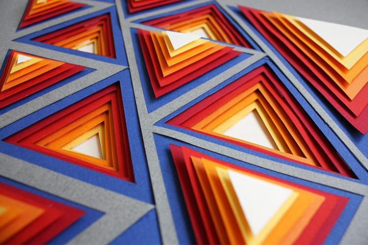 Principles Of Art Pattern : Paper art posters gorgeously illustrate key design principles