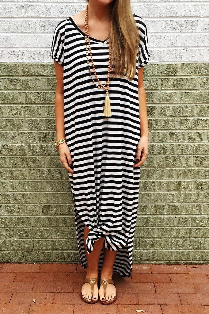 f628285cb9f5 Brooklyn Babe Maxi - Black Stripe