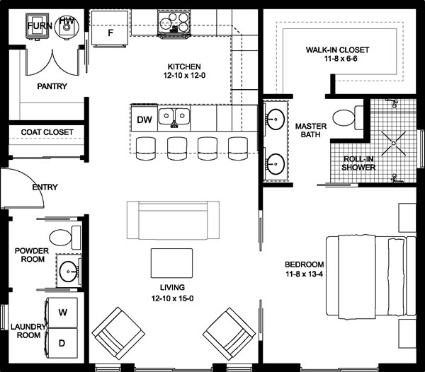 Plan No.580896 House Plans by WestHomePlanners.com #casaspequeñas