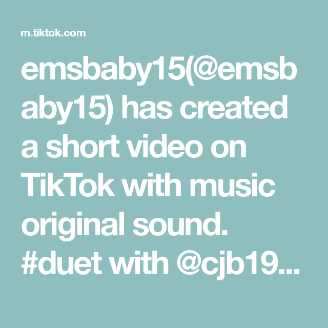 Emsbaby15 Emsbaby15 Has Created A Short Video On Tiktok With Music Original Sound Duet With Cjb1995 We Ve All Been There B The Originals Sound Creamy Mash