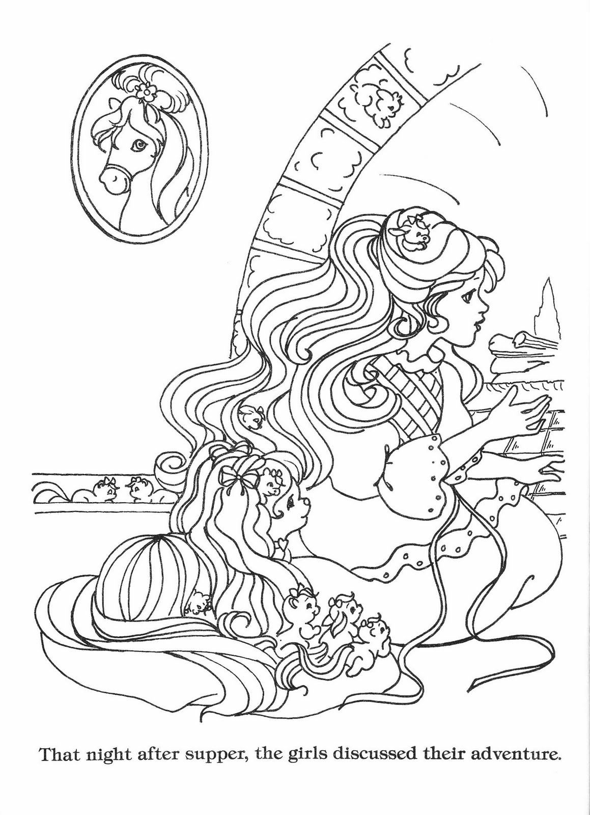 Lady Lovely Locks Coloring Book Lady Lovely Locks The Begining Edited For Printing Lady Lovely Locks Coloring Book Pages Cartoon Coloring Pages