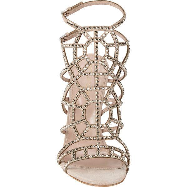 Sergio Rossi Puzzle Jeweled Evening Sandal