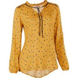 Qiéro blouse printed in yellow