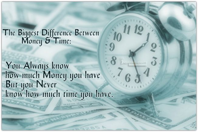 The Biggest Difference Between Money & Time: