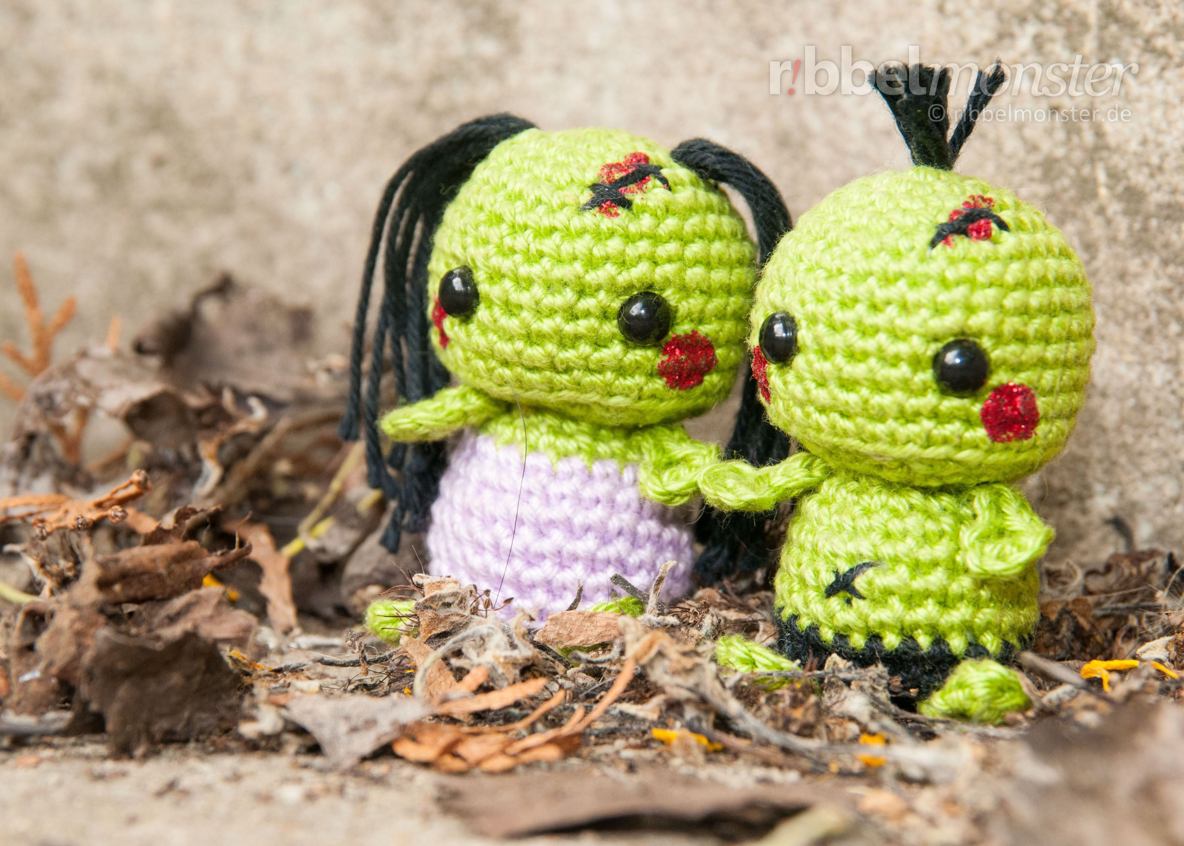 Amigurumi Monster Anleitung Kostenlos : Anleitung amigurumi minimee zombies häkeln kostenlose