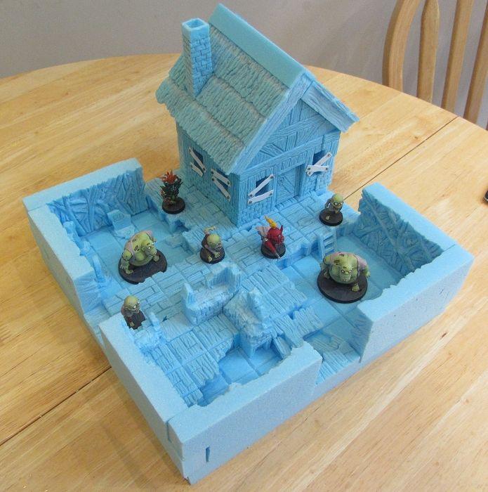 terrain foam miniature games wargaming tabletop miniatures rpg board warhammer xps boards mini sodapopminiatures community carving 3d uploaded user