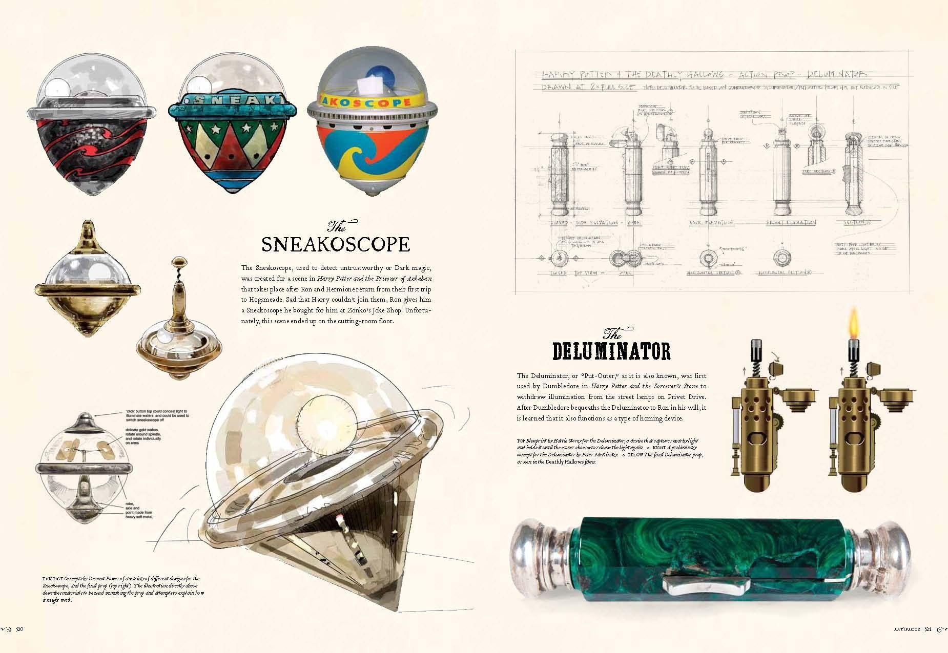Sneakoscope & Deluminator concept art | Mr Harry J. Potter, Number 4 ...