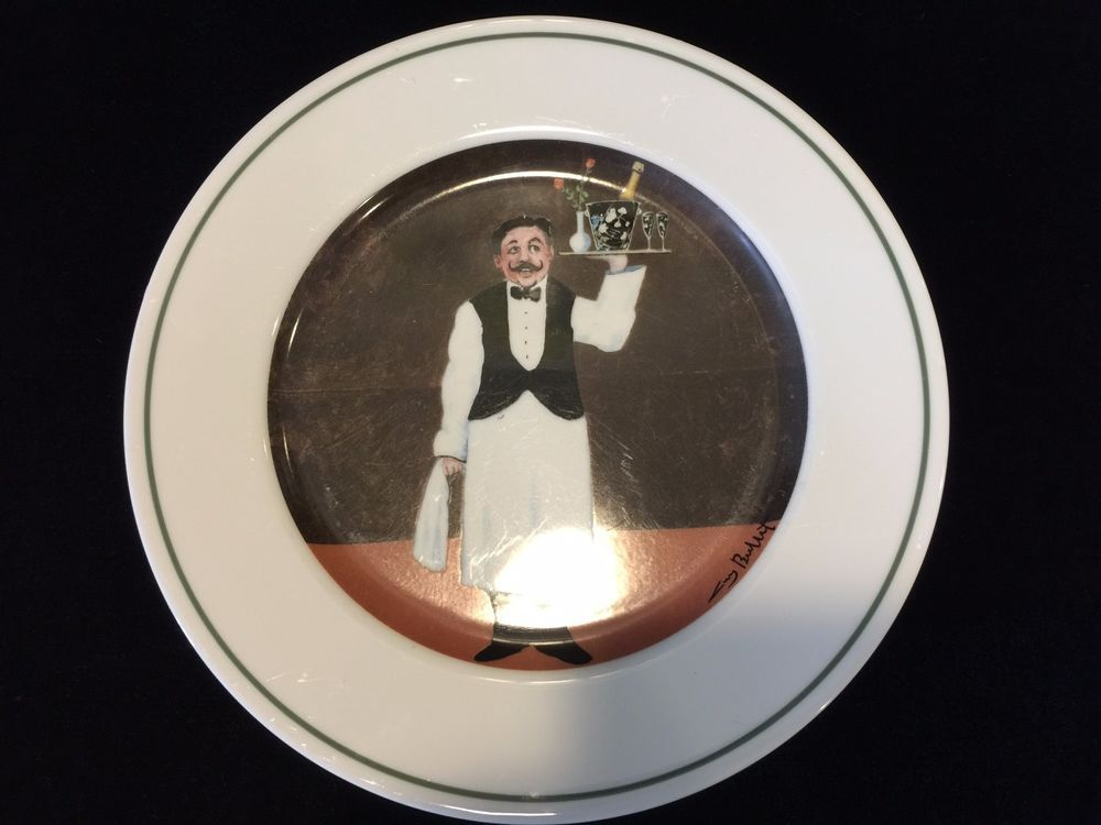 This is a Guy Buffet Sommelier  Room Service  Dinner Plate Made in Japan 10 Diameter. & Guy Buffet Sommelier