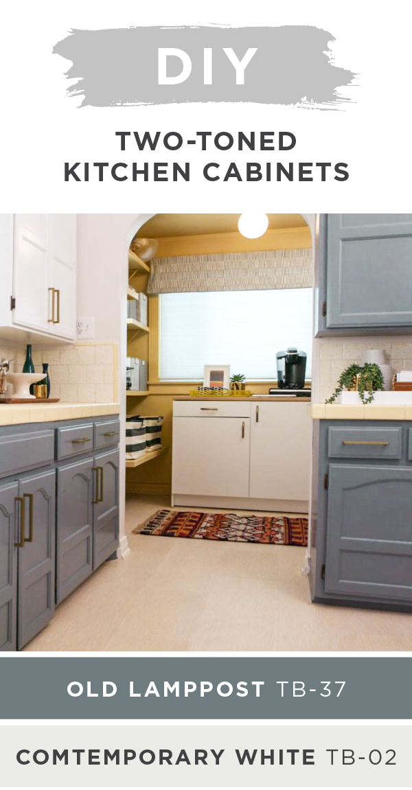 Trendy Two Toned Kitchen Cabinet Refresh The Perfect Finish Blog