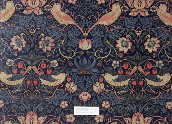 William Morris Tappezzeria Strawberry 1883 Cotone