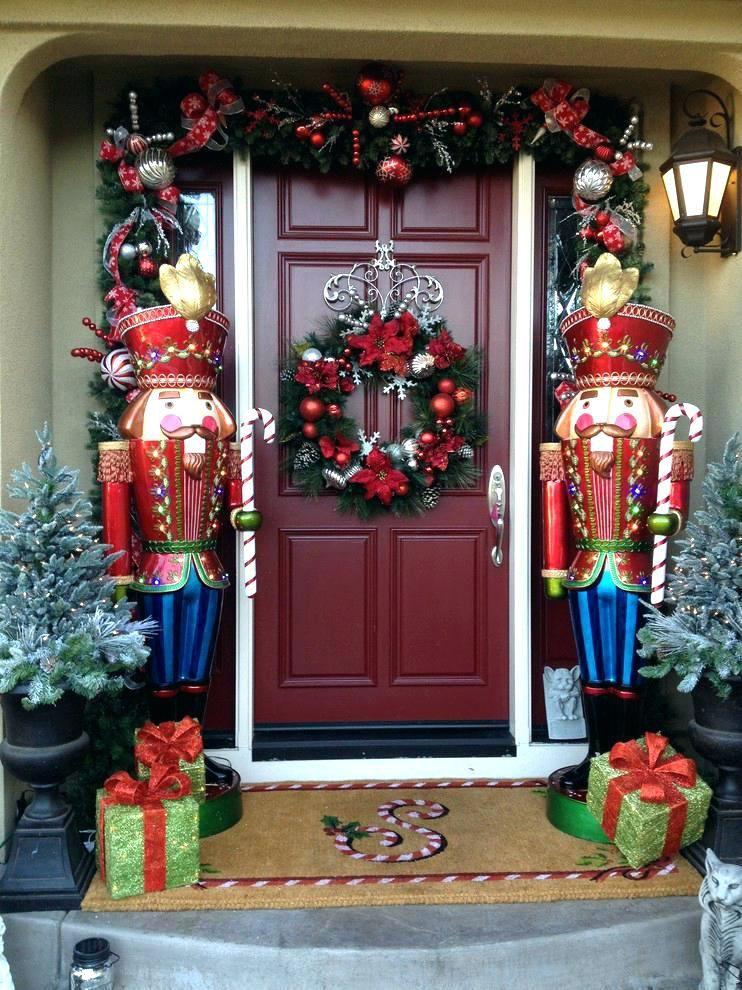 large outdoor christmas light decorations large outdoor christmas lighted ornaments large life size nutcracker outdoor christmas