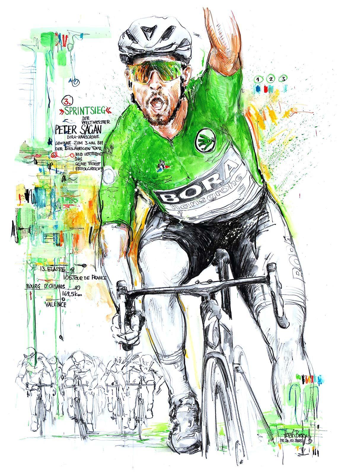 Peter Sagan, Borahansgrohe, gewinnt die 13. Etappe der