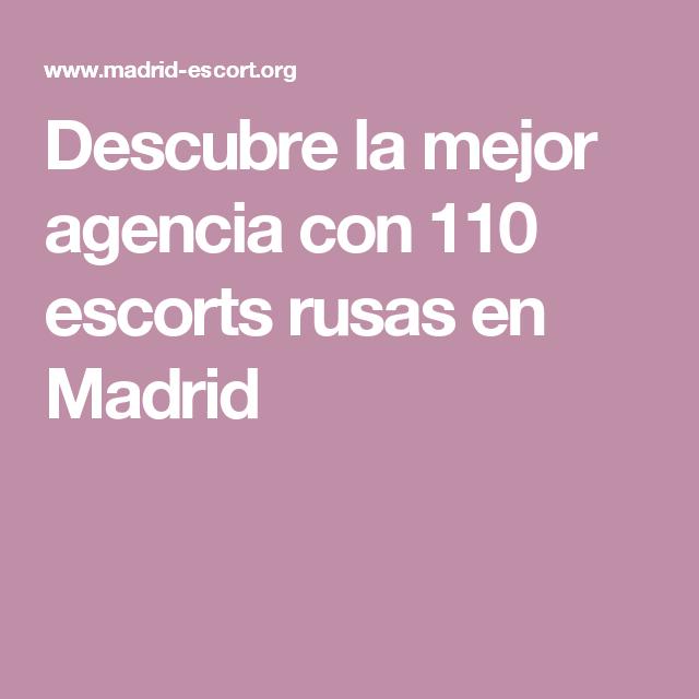 agencia escort madrid