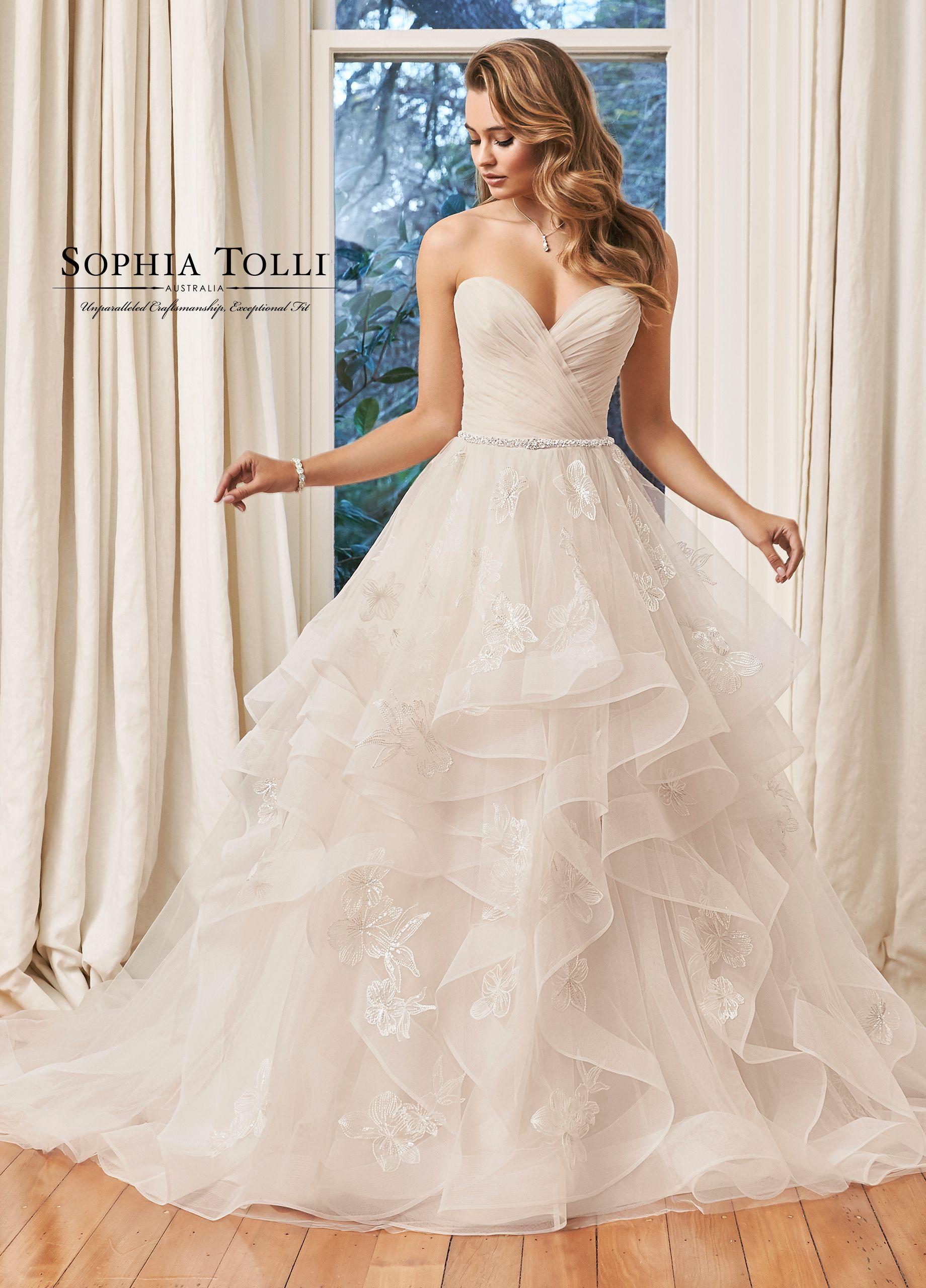 Sweetheart Neckline Layered Ballgown Wedding Dress Y11958 Rylee