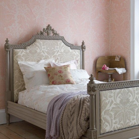 Bedroom Ideas Damask merle cream table lamp | pink damask, country and bedroom country