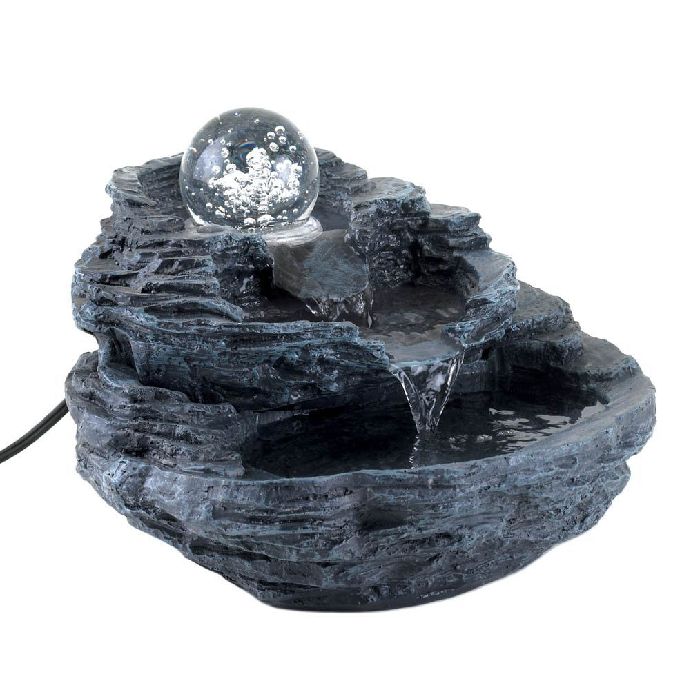 Rock Design Desk Fountain Indoor Tabletop Water Fountain