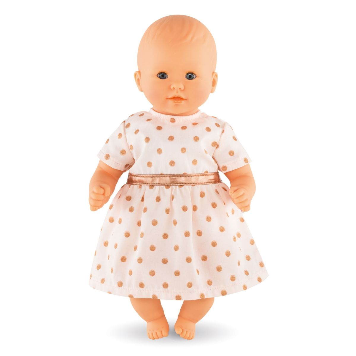 Corolle Pink Gold Dress For 12 Inch Baby Doll Dmv060 Pink And Gold Dress Doll Dress Pink