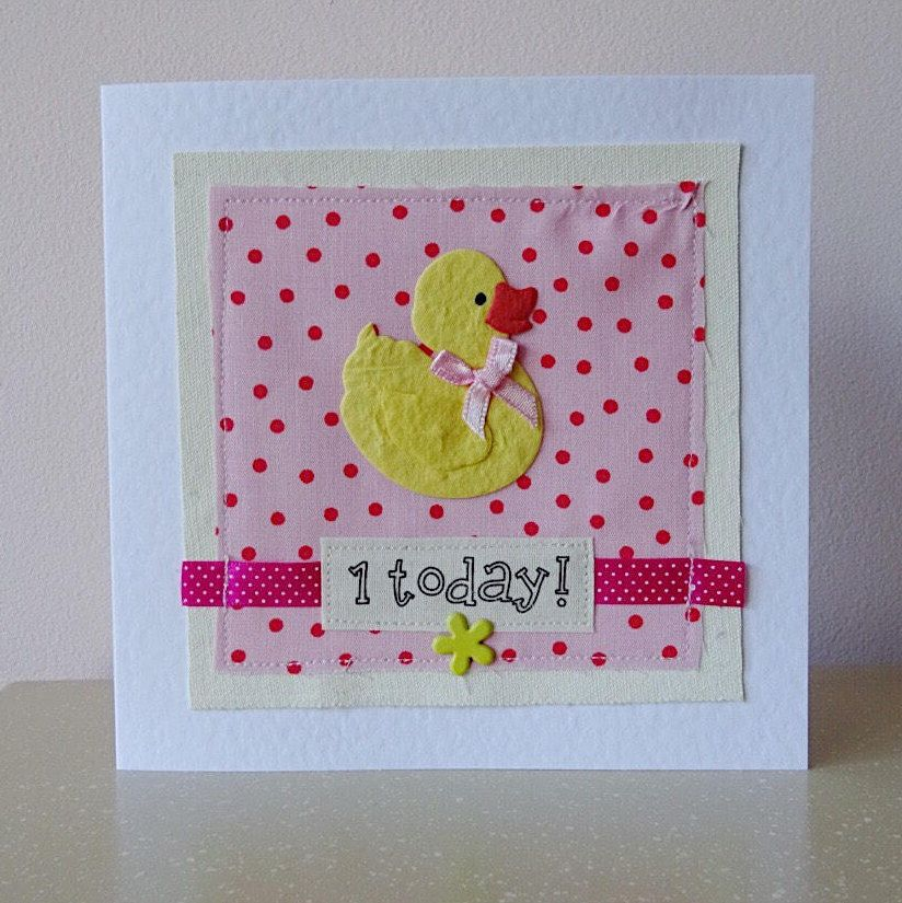 Daughter 1st birthday, first birthday card for baby girl